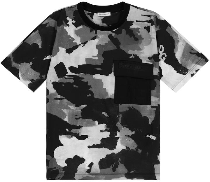 Dolce & Gabbana Kids Camouflage cotton T-shirt