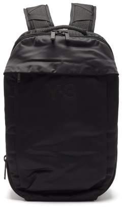 Y-3 Y 3 Logo-print Technical Backpack - Mens - Black