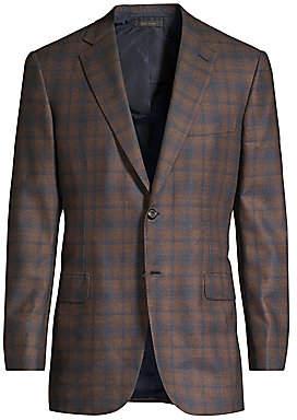 Brioni Men's Check Blazer