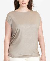 Lauren Ralph Lauren Plus Size Metallic Jersey T-Shirt