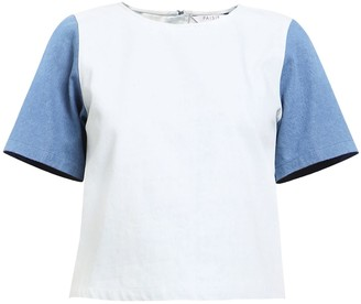 Paisie Two Tone Denim T-Shirt