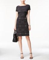 Ivanka Trump Geo-Print A-Line Dress