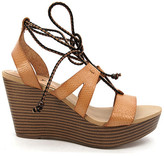 Groove Lyn Lace-Up Wedge Sandal