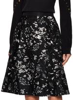 Prabal Gurung Cotton Jacquard A Line Skirt