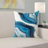 """Agate Throw Pillow East Urban Home Size: 14"""" H x 14"""" W x 1.5"""" D"""