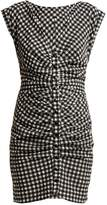 Rachel Comey Flatlanders ruched gingham mini dress