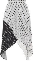 Thumbnail for your product : Thebe Magugu High-rise Fingerprint-print Crepe Midi Skirt - White Black