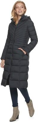 Bernardo Women's B by Ecoplume Hooded Long Puffer Coat