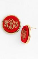 Moon and Lola Women's 'Vineyard' Personalized Monogram Stud Earrings