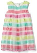 Gap Stripe pleat a-line dress