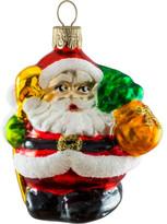 Christmas Shop Chubby Santa Red Ornament