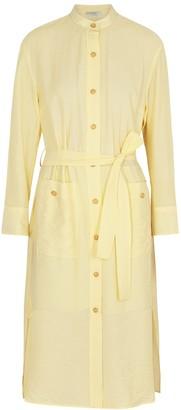 Vince Yellow crinkled shirt dress