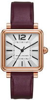 Marc Jacobs Analog Vic Rose-Goldtone Leather Strap Watch