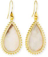 Eddie Borgo White Lace Agate Teardrop Earrings