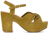 Chie Mihara tie-detail platform sandals - women - Leather/Suede/rubber - 36.5