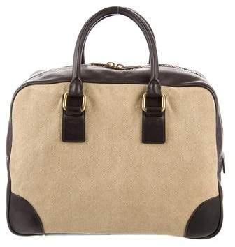 Celine Canvas Boston Bag