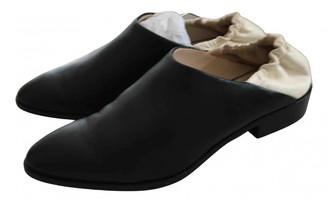 Jil Sander Black Leather Flats