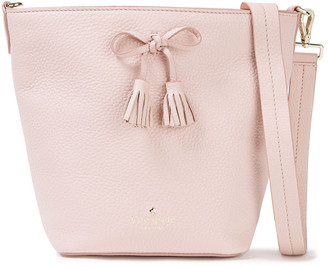 Kate Spade Bow-embellished Pebbled-leather Shoulder Bag