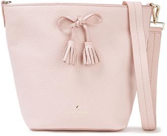 Kate Spade Hayes Street Vanessa Bow-embellished Pebbled-leather Shoulder Bag