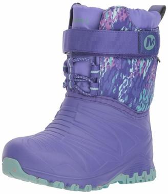 Merrell Snow Quest Lite Waterproof Boot Big Kid 13 Purple/Print