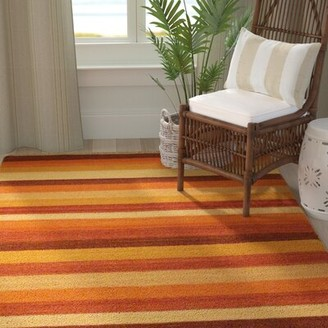 Bay Isle Home Vallejo Beige Striped Area Rug