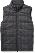 Canali - Reversible Checked Wool And Quilted Shell Gilet