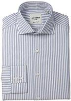 Ben Sherman Men's Slim Fit Royal Twill Stripe Dress Shirt