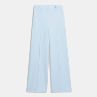 Theory Wide Trouser in Good Wool