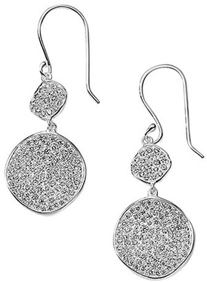 Ippolita Stardust Sterling Silver & Diamond Pave Flower Snowman Earrings