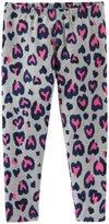Osh Kosh Print Leggings (Toddler/Kid) - Pink Hearts-6