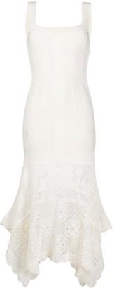 Alexander McQueen Crochet Hem Dress