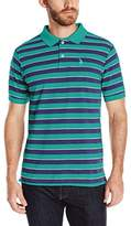 U.S. Polo Assn. Men's Short Sleeve Balanced Striped Pique Polo Shirt