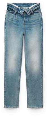 Denim cult flip staight leg jeans