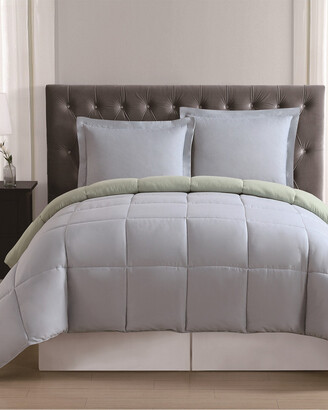Truly Soft Everyday Light Blue & Sage Reversible Comforter Set