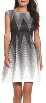 Vince Camuto Petite Women's Scuba Fit & Flare Dress