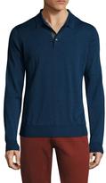 Toscano Wool Long Sleeve Polo