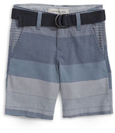 Calvin Klein Belted Engineered Stripe Shorts