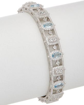 Judith Ripka Sanibel Silver 3.68 Ct. Tw. Gemstone Cuff