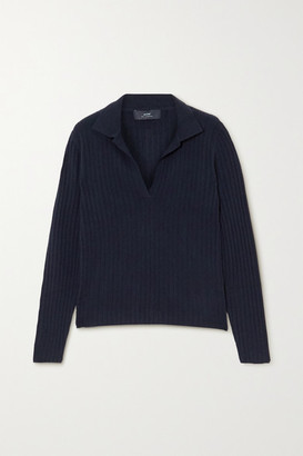 Arch4 Ribbed Cashmere Sweater - Navy