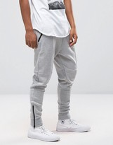 Pull&bear Skinny Fit Joggers In Grey