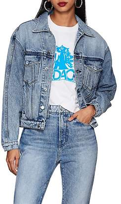 Jordache WOMEN'S DENIM CROP TRUCKER JACKET