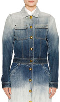 Tomas Maier Denim Ombre Jacket, Blue