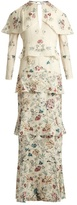 Vilshenko Annabelle floral-print silk gown