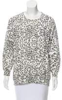 Pierre Balmain Leopard Print Long Sleeve Sweatshirt