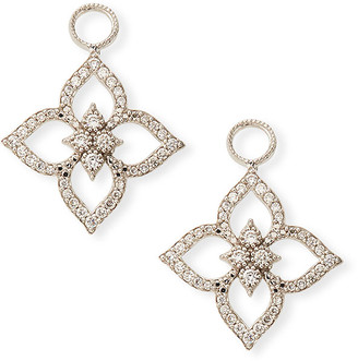 Jude Frances 18k Moroccan Pavé Flower Earring Charms