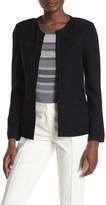 St. John Gail Wool Blend Knit Patch Pocket Jacket