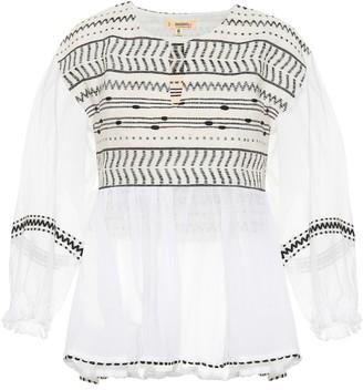 Lemlem Maya cotton-blend blouse