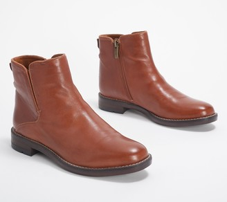 Franco Sarto Leather Ankle Boots - Marcus