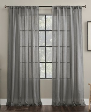 "Archaeo Embroidered Border 50"" x 63"" Sheer Curtain Panel"