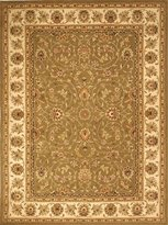Safavieh TD602B-212 Traditions Collection Handmade Wool Area Runner, 2-Feet 3-Inch by 12-Feet, Sage and Ivory